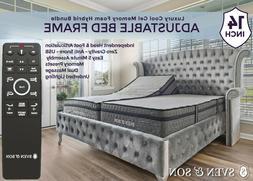 Sven & Son Adjustable Bed Frame  + Gel Memory Foam Mattress