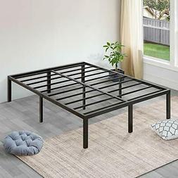 SLEEPLACE 18 Inch Tall Heavy Duty Steel Slat Bed Frame ST-30