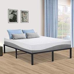 SLEEPLACE 14 Inch Tall SPT-200  Steel Slat Bed Frame / Non-S