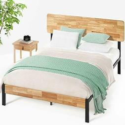 Zinus Tuscan Metal & Wood Platform Bed with Wood Slat Suppor