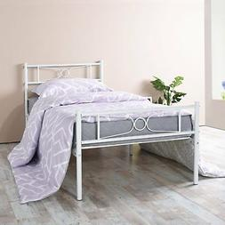 GIME Twin Bed Frame, Yanni LESILE Easy Set-up Premium Metal