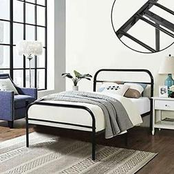 GreenForest Twin Bed Frame Metal Platform Mattress Base Plat