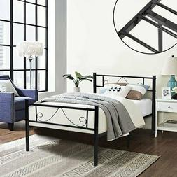 GreenForest Twin Bed Frame Metal Platform with Stable Metal