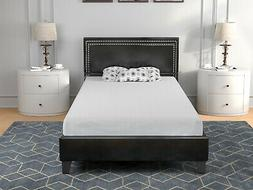 Twin Bed Frame w/ Nailhead Trim Headboard Platform Bed Wood