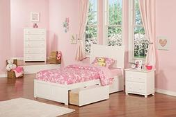ioneyes Twin Bed Panel White Soho Flat Foot Board With 2 Urb