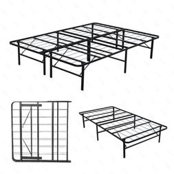 Metal Bed Frame Platform Mattress Foundation Twin, Full, Que