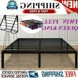 Twin / Full / Queen Bi-Fold Folding Platform Metal Bed Frame