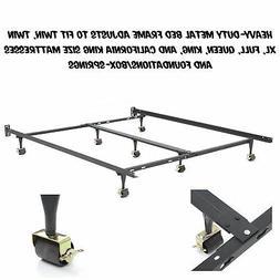 Heavy Duty Metal Bed Frame Adjustable Twin Full Queen King U