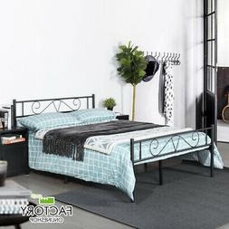Twin Full Queen Metal Bed Frame Platform Foundation Headboar