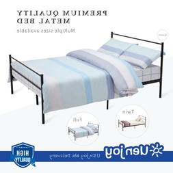 Twin Full Queen Size Metal Bed Frame Platform Headboards Bed