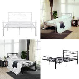 Twin Full Queen Size Metal Bed Frame Platform Bedroom Mattre