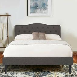 Twin/Full/Queen Size Platform Bed Frame Adjustable Upholster