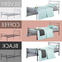 Twin Full Size Metal Bed Frame Bedroom Platform Mattress Fou