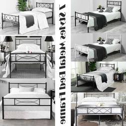 Twin Full Size Metal Bed Frame Bedroom Mattress Platform Fou