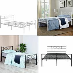Twin Full Size Metal Bed Frame Platform Bedroom Mattress Fou