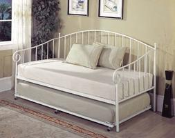 Kings Brand White Metal Twin Size Day Bed  Frame With Metal
