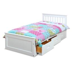 Twin Size Pine Mission Bed with 3 Drawer Storage