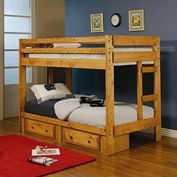 Twin over Twin Bunk Bed - Coaster 460243