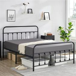 Twin/Queen/Full Size Metal Platform Bed Frame Mattress Found