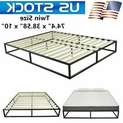 10 Inch TWIN Size Bed Frame Steel Mattress Stand Slat Beds H