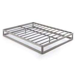 Twin Size 9 Inch Metal Platform Bed Frame, Round Type - Crow