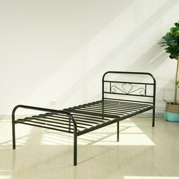 Twin Size Bed Frame Mattress Foundation Platform Bed Frame E