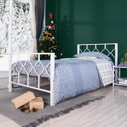 twin size bed frame metal platform bed