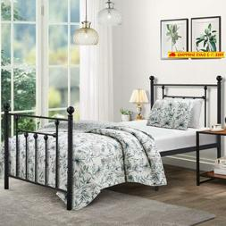 Twin Size Bed Frame, Vecelo Metal Platform Mattress Foundati