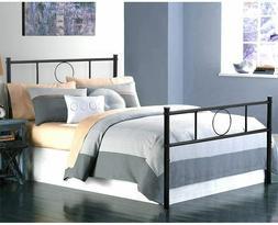 Twin Size Bed Frame w/ Headboard and Footboard Mattress Foun