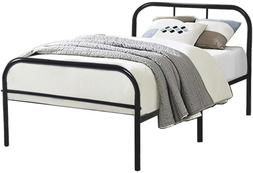 GreenForest Twin Size Bed Frame with Headboard and Stable Me