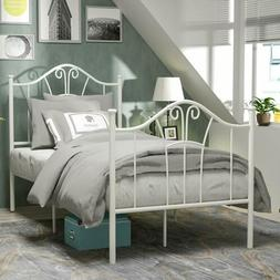 Twin Size Heavy Duty Metal Bed Frame Headboard Footboard Bed