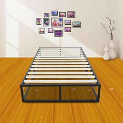 Twin Size Home Hotel Simple Basic Iron Bed Metal Platform Be