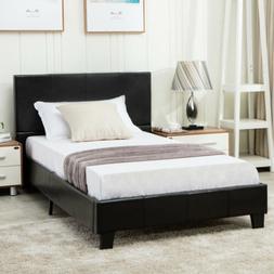twin platform bed frame faux