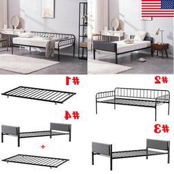 Twin Size Metal Platform Bed Frame Mattress Foundation Steel
