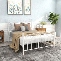 Twin Size Metal Bed Frame Mattress Foundation Platform Headb
