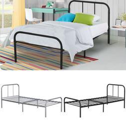 twin size metal platform bed frame mattress