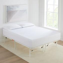 "Twin Size Platform Bed Frame Mattress 14"" Foundation Portabl"