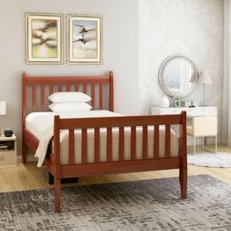 Twin Wooden Platform Wood Bed Frame Mattress Foundation with