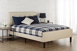 Zinus Ibidun Upholstered Square Stitched Platform Bed with F