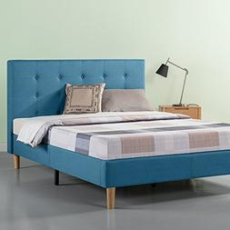 Zinus Ibidun Upholstered Button Tufted Platform Bed / Strong