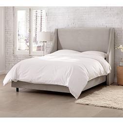 Skyline Furniture Upholstered California King Bed in Velvet