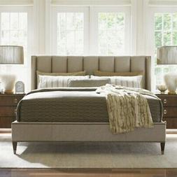 Beaumont Lane Upholstered California King Platform Bed in Ro
