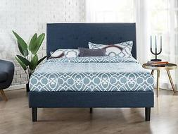 Zinus Omkaram Upholstered Navy Button Detailed Platform Bed