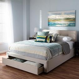 Baxton Studio Upholstered Storage Platform Bed