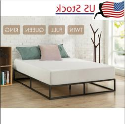 US Home Hotel Simple Basic Iron Bed Queen King Twin Metal Pl