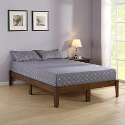 Olee Sleep VC14SF03Q Smart Wood Platform Bed Frame, Natural
