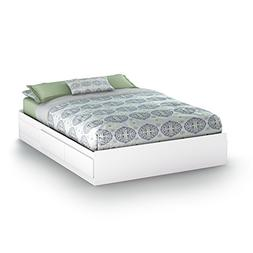 Versatile Wooden Queen Bed Frame with 2 Metal Slide Drawers