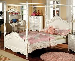 247SHOPATHOME IDF-7519T Childrens Bed Frames, Twin, White