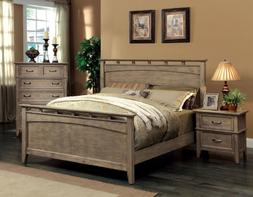Furniture of America Vine Rustic Style Solid Wood Bed, Calif