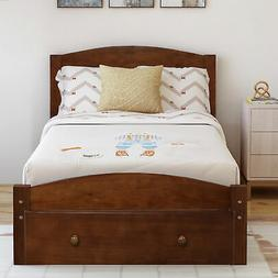 Twin Size Bed Frame Bed Platform W/Strong Wood Slat Support